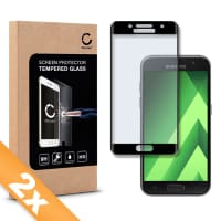 2x Panzerglas für Samsung Galaxy A3 (2017 - SM-A320) - Tempered Glass (HD-Qualität / 3D Full Cover / 0,33mm / 9H)