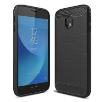 Tapa trasera para Samsung Galaxy J3 DUOS (2017 - SM-J330) - TPU, negro Funda