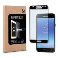 Cristal protector de la pantalla para Samsung Galaxy J3 DUOS (2017 - SM-J330) - Tempered Glass (Calidad HD / 3D Full Cover / 0,33mm / 9H)