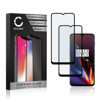 2x Screen protector glass OnePlus 6T (3D Case-friendly, 9H, 0,33mm, Full Glue) Tempered Glass