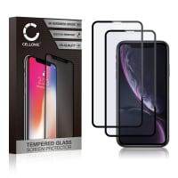 Protection d'écran en verre [2x] iPhone XR (3D Full Cover, 9H, 0,33mm, Full Glue) Verre trempé