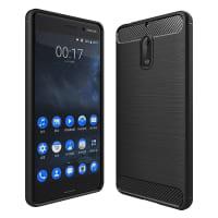 Back Cover voor Nokia 6 (2017) - TPU, zwart Tasje Zakje Hoesje