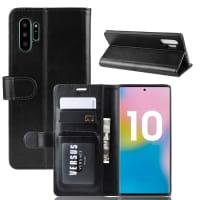 Case for Samsung Galaxy Note 10 Plus (SM-N975) / Galaxy Note 10 Plus 5G (SM-N976) - PU Leather, Black Case