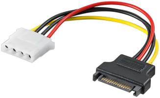 PC Stromkabel/Stromadapter - SATA Standard Buchse > Molex (4-Pin)