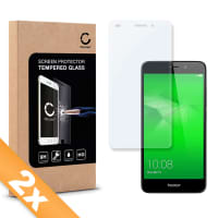 2x Cristal protector de la pantalla para Huawei Honor 5C - Tempered Glass (Calidad HD / 2.5D / 0,33mm / 9H)