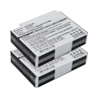 2x Battery for PURE Flip 4GB / Flip UltraHD 8 GB / Cisco U32120 - ABT2W (1100mAh) Spare Battery Replacement