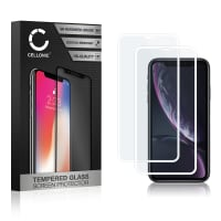 2x Screen protector glass iPhone XR (3D Full Cover, 9H, 0,33mm, Full Glue) Tempered Glass