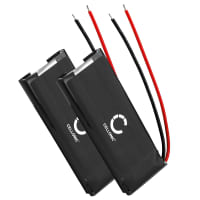 2x Battery for Cardo Scala Rider FM, Scala Rider Q1, Q3, Scala Rider Solo - WW452050PL (320mAh) Spare Battery Replacement