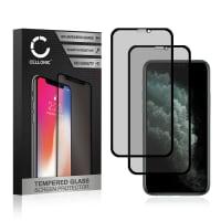 2x Privacy Panzerglas Apple iPhone 11 (3D Case-friendly, 9H, 0,33mm, Full Glue) Displayschutz Tempered Glass