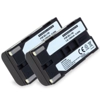 2x Battery for Samsung SC-L906 -L901 -L860 -L810 -L700 SC-D23 VP-W80 -W70 -W60 VP-M50 VP-L800 -L900 -L700 -L600 -L600 - SB-L110A, -L160, -L320, -L480 2200mAh , Replacement battery