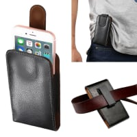 Flip Wallet for the belt / Smartphones (13.5cm x 7.3cm x 2.0cm / ~ 4,1 - 4,8