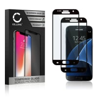 2x Skjermbeskytter glass Samsung Galaxy S7 (SM-G930 / SM-G930F) (3D Full Cover, 9H, 0,33mm, Edge Glue) Herdet Glass