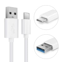 USB Cable for HP Pro Tablet 608 G1 / Elite x2 1012 G1 (USB A 2.0 -> USB Type C) - Charging Cable 1m Data Cord 3A White PVC Wire Lead