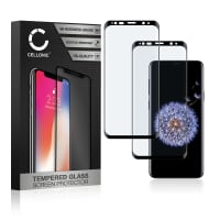 2x Displaybeschermglas Samsung Galaxy S9 Plus (SM-G965) (3D Full Cover, 9H, 0,33mm, Full Glue) Tempered Glass