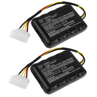 2x Battery 18V, 2500mAh, Li-Ion for AL-KO Robolinho 100 Robolinho 110 - 440454, 441154, 442175 Spare Battery Replacement
