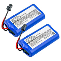 2x Battery for Peugeot ELIS - ICR18650H2C (2500mAh) Spare Battery Replacement