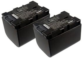 2x Batterie pour JVC GZ-E15, GZ-EX315, -EX215, GZ-HM550, -HM30, -HM310, -HM330, GZ-HD620, GZ-MG750, GZ-MS110, -MS210 - BN-VG107,-VG108,-VG114,-VG121 (2700mAh) Batterie de remplacement