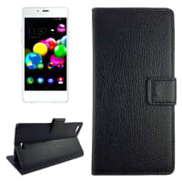 Smart Case for Wiko Highway Pure - PU Leather, black Case