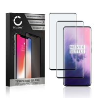 2x Panzerglas OnePlus 7T Pro (3D Full Cover, 9H, 0,33mm, Edge Glue) Displayschutz Tempered Glass