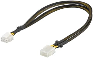 Power extension cable for PC graphics cards; PCI-E/PCI Express 8-pin