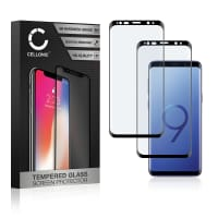2x Panzerglas Samsung Galaxy S9 (SM-G960) (3D Full Cover, 9H, 0,33mm, Full Glue) Displayschutz Tempered Glass