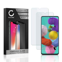 2x Screen protector glass Samsung Galaxy A51 (SM-A515) (2.5D, 9H, 0,33mm, Full Glue) Tempered Glass