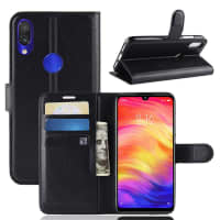 Case for Xiaomi Redmi Note 7 Global - PU Leather, Black Case
