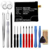 Battery for Nokia 3.1 (TA-1049, TA-1057, TA-1063, TA-1070, TA-1074) incl. Tool-kit - HE351 (2900mAh) , Replacement battery
