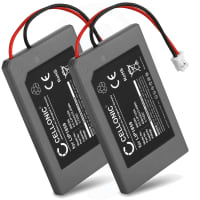 2x Battery for PlayStation 3 SIXAXIS Controller (PS3) - LIP1859 (650mAh) Replacement battery