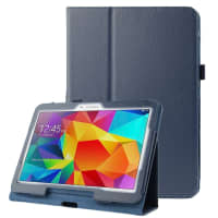 Case for Samsung Galaxy Tab 4 10.1 (SM-T530 / SM-T531 / SM-T533 / SM-T535) - Artificial leather, dark blue Case