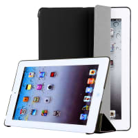 Smart Cover for Apple iPad 2 / iPad 3 / iPad 4 (Wake / Sleep) - Plastic, black Case