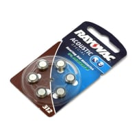 Hearing Aid batteries Rayovac HA312 PR41 312 (x6) Button Cell