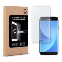 Displaybeschermglas voor Samsung Galaxy J7 DUOS (2017 - SM-J730) - Tempered Glass (HD kwaliteit / 3D Full Cover / 0,33mm / 9H)