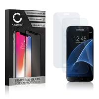 2x Protection d'écran en verre Samsung Galaxy S7 (SM-G930 / SM-G930F) (3D Full Cover, 9H, 0,33mm, Edge Glue) Verre trempé