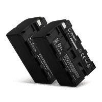 2x Kamera Akku für Sony HXR-MC2500 HXR-NX100 -NX5 HDR-FX1 -FX7 -FX1000 DSR-PD150 -PD170 NEX-FS700r HVR-Z1 DCR-VX2000 - NP-F750 NP-F570 NP-F960 NP-F970 NP-F330 Ersatzakku 4400mAh , Batterie