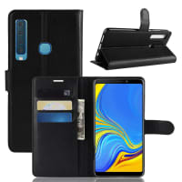 Case for Samsung Galaxy A9 (2018 - SM-A920) - PU Leather, Black Case