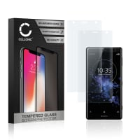 2x Panzerglas Sony Xperia XZ2 (3D Full Cover, 9H, 0,33mm, Edge Glue) Displayschutz Tempered Glass