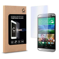 Cristal protector de la pantalla para HTC One M8 / M8s - Tempered Glass (Calidad HD / transparente / 0,33mm / 9H)
