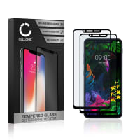 2x Skjermbeskytter glass LG G8s ThinQ (3D Case-friendly, 9H, 0,33mm, Full Glue) Herdet Glass