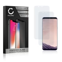2x Panzerglas Samsung Galaxy S8 Plus (SM-G955 / SM-G955F) (3D Full Cover, 9H, 0,33mm, Edge Glue) Displayschutz Tempered Glass