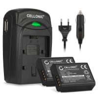 2x Batterie LP-E10 incl. Chargeur LC-E10 pour Canon EOS 1100D EOS 1200D, EOS Rebel T3 EOS Rebel T5, EOS Kiss X50 X70 X80 - LP-E10 (1020mAh) Batterie de remplacement