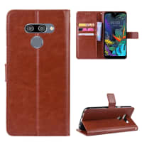 Case for LG K50 / Q60 - PU Leather, Brown Case