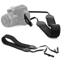 Universal camera strap with loop fastening, black (max 1,10m length-adjustable), belt