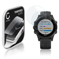 2x Screen protector glass Garmin Forerunner 945 (2.5D, 9H, 0,33mm, Full Glue) Tempered Glass