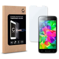 Displaybeschermglas voor Samsung Galaxy S5 mini (SM-G800 / SM-G800F) - Tempered Glass (HD kwaliteit / 2.5D / 0,33mm / 9H)