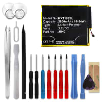 Battery for Moto Z3 Play - JS40 (2800mAh) + Tool-kit, Replacement battery