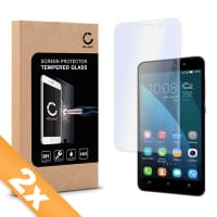 2x Displaybeschermglas voor Huawei Honor 4X - Tempered Glass (HD kwaliteit / 2.5D / 0,33mm / 9H)