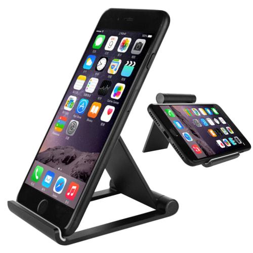 Stand / houder (aluminium) voor mobiele telefoons, tablets & eReader - opvouwbaar, 2 kijkhoek
