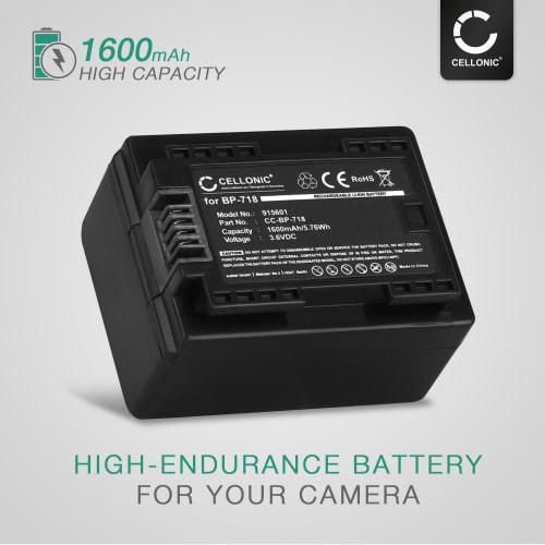 Batteri til Canon LEGRIA HF R706 Canon LEGRIA HF R57 . På