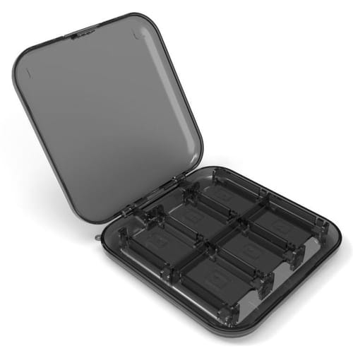 Storage box for 12 Nintendo Switch Games - Plastic, Transparent / Black Case